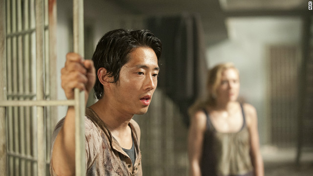 """I'm excited for people to see what's coming,"" Steven Yeun says of season three of ""Walking Dead."""