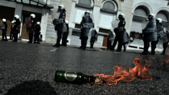 Greece has seen some of the most violent protests in years.