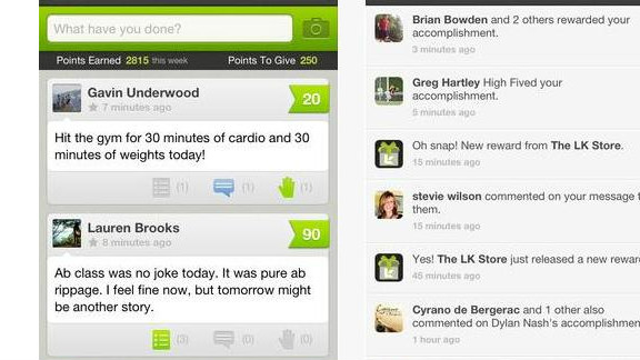 LifeKraze: (free, lifekraze.com) Users post their fitness goals in 160-character posts, plus photos or links. They're also given 300 points a day to reward others' accomplishments. Points can be redeemed for product discounts or donated to charity. The point system encourages people to exercise and urge others to do likewise. (iPhone, iPod Touch, iPad)