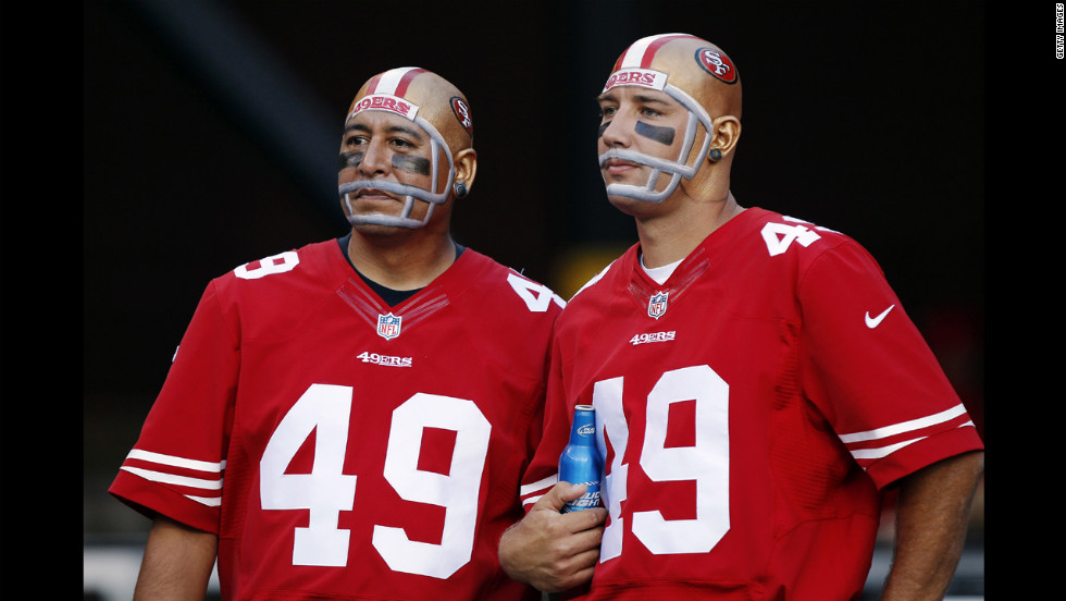 49er fans watch the game against the Seattle Seahawks.