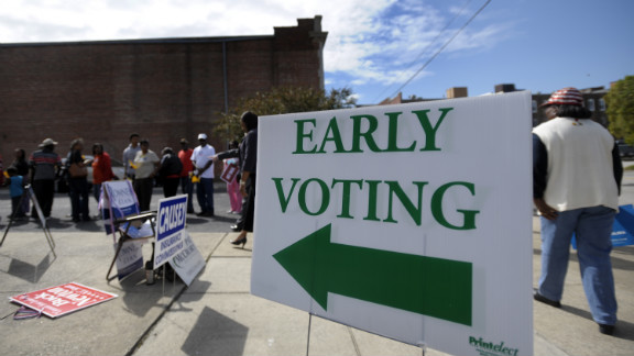 Voters in 35 states and the District of Columbia have the opportunity to cast their ballots ahead of November 6.