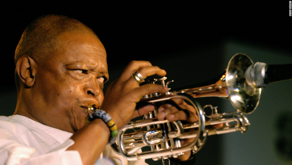"""The man and his music is an inspiration to us all,"" says Jones of South African jazz multi-instrumentalist and singer, Hugh Masekela."