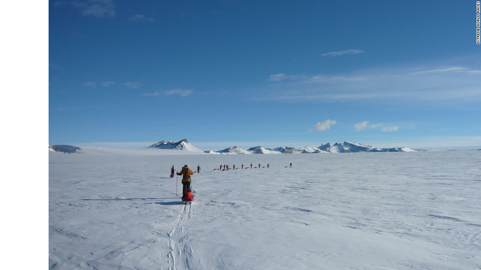 The EWR South Pole Race tests competitors to the limit as they brave bitter temperatures of -40C and blinding snowstorms in their trek across the infamous Antarctic Polar Plateau in the footsteps of great explorers such as British Captain Robert Scott and the Norwegian Captain Roald Amundsen.