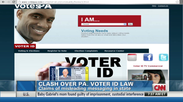 Clash over Pennsylvania voter ID law