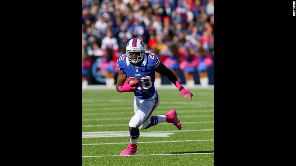 C.J. Spiller of the Buffalo Bills runs the ball Sunday.