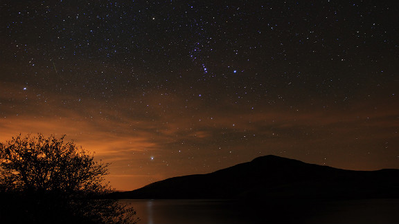 Kevin Lewis stayed up late and braved cold weather just so he could experience the serenity of watching the Orionids from North Wales.