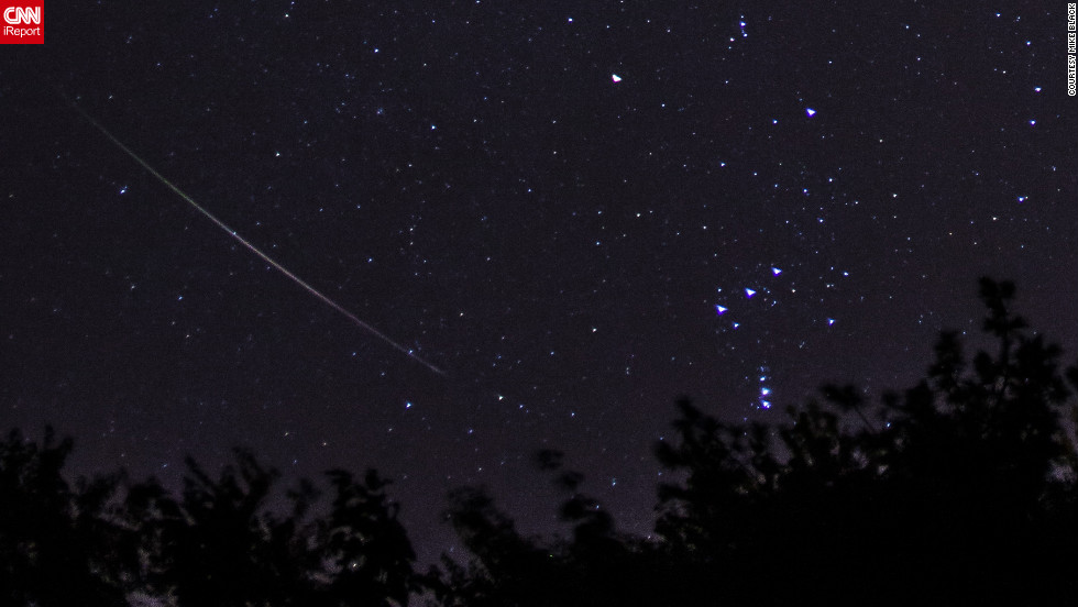 "<a href=""http://ireport.cnn.com/docs/DOC-861953"">Mike Black</a> photographed the Orionids at 5:00 a.m. from Belmar, New Jersey. ""It is worth it to see this natural phenomenon. I am always excited when I see one, it never gets old or boring or tiring,"" he said."