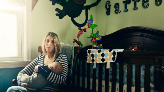 Emma Warin and her baby are healthy, but they are participating in a study that is analyzing the family