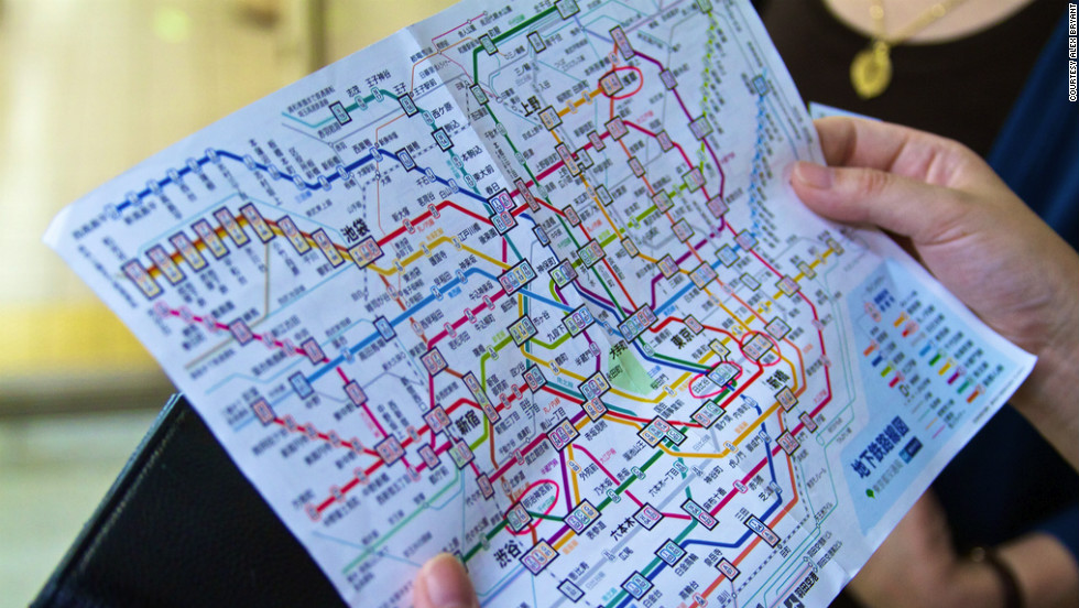 Used Bugs To Map Tokyo Subway Map.How To Survive Tokyo S Subway Sandwich Cnn