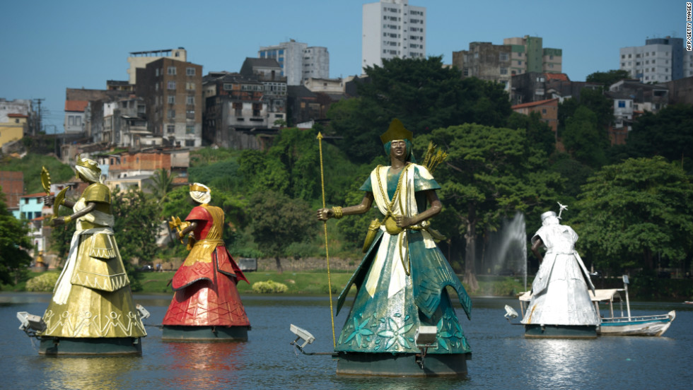 Orixas Deities Of The Candomble Religion Have Been Built In Salvador Northeastern Brazil