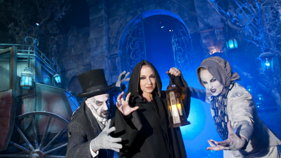 ORLANDO, FL - OCTOBER 01: In this handout photo provided by Universal Orlando, Grammy-award winning singer and songwriter Gloria Estefan encountered deceased souls while making her way through the Winter