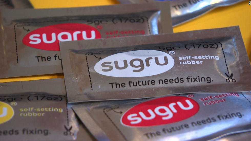 Sugru is a silicone material that can be hand-molded to repair or enhance a variety of domestic products.