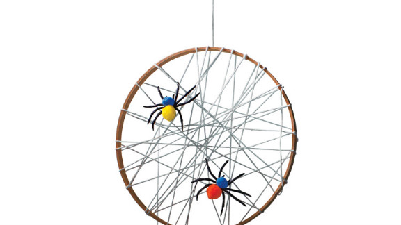 Spin yarn into the perfect spot for spooky spiders.