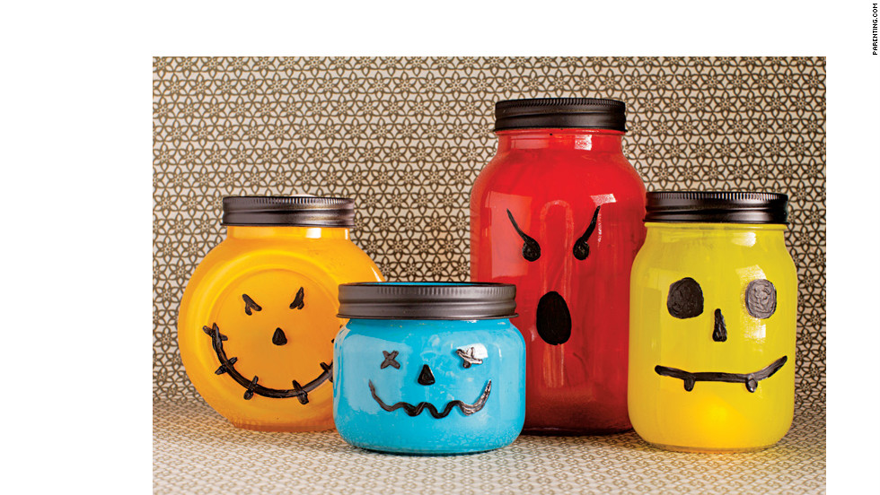 A spooky glow turns canning jars into shriek-inducing lanterns.