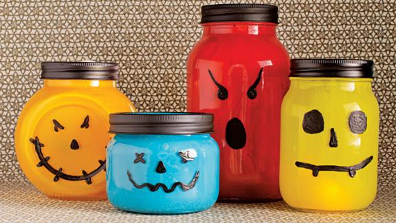 A spooky glow turns canning jars into shriek-inducing lanterns.