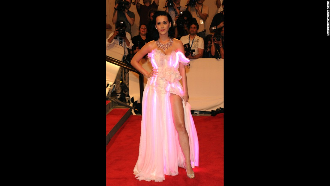 Perry's literally glowing on the red carpet at the Costume Institute Gala Benefit in May 2010 in New York.