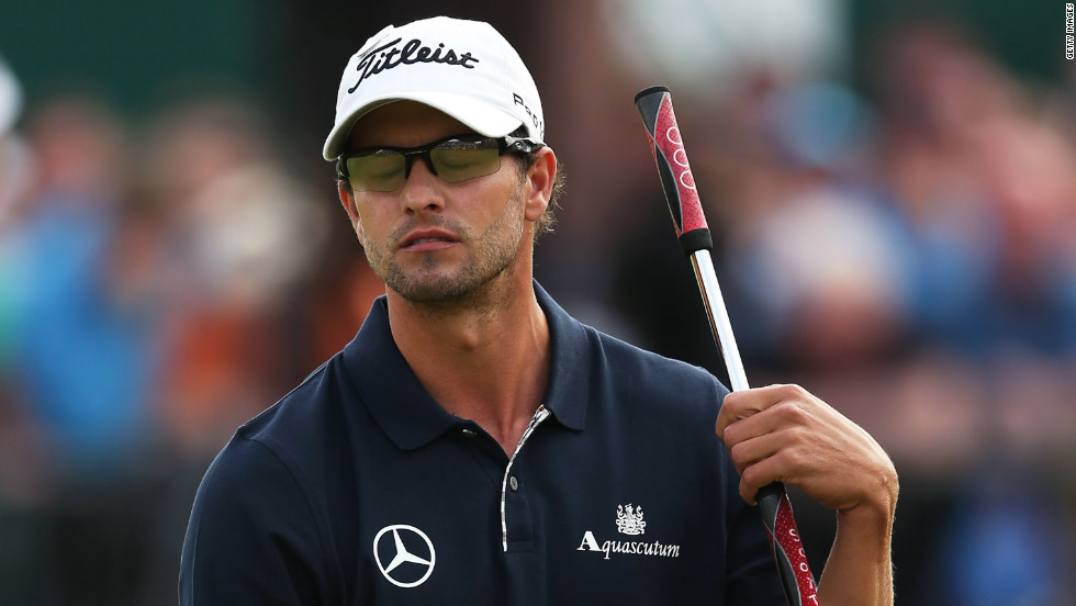 Adam Scott looked set for a first major win at this year's British Open, but four bogeys on the last four holes of the final round let South Africa's Ernie Els swoop in and steal the Australian's crown. Scott missed a putt on the 18th green that would've forced a playoff.