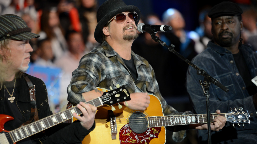 Perry's not the only musician on the trail. Kid Rock performed at a Romney rally earlier this week.