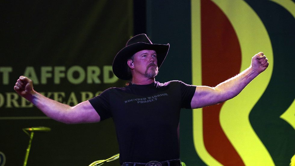 Trace Adkins has been on the trail for Romney.