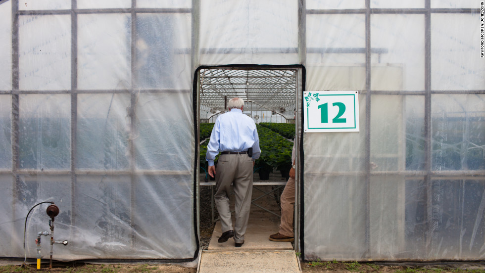 Barrow gets a tour of Cook's vast nursery in Baxley, the seat of Appling County, which was added to District 12 in redistricting after the 2010 census. Barrow says Republicans redrew the lines to make it virtually impossible for a Democrat to win.