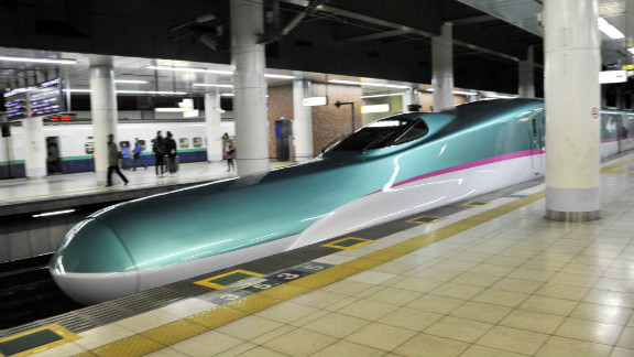 The Hayabusa bullet train currently links Tokyo to Aomori in the north of Tohoku.