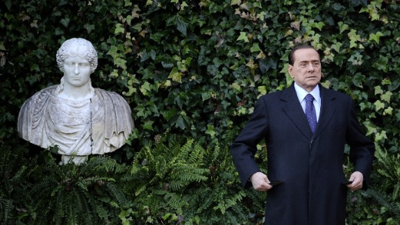 Berlusconi visits Villa Madama in Rome in January 2011.