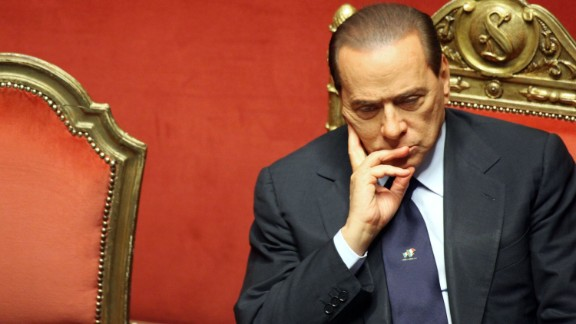 Berlusconi listens during a debate in the Italian Senate in December 2010.