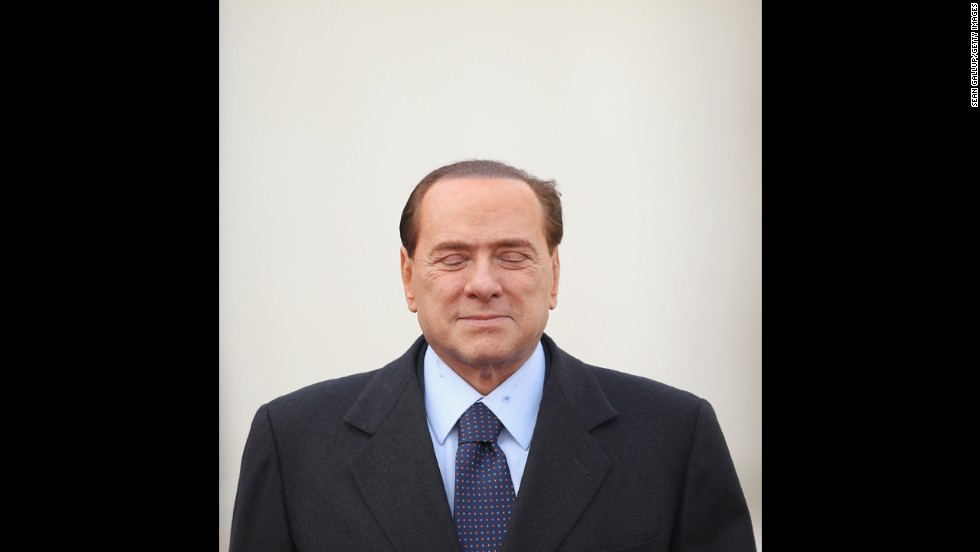 Berlusconi arrives at the German Chancellery in Berlin to meet with Chancellor Angela Merkel in January 2011.