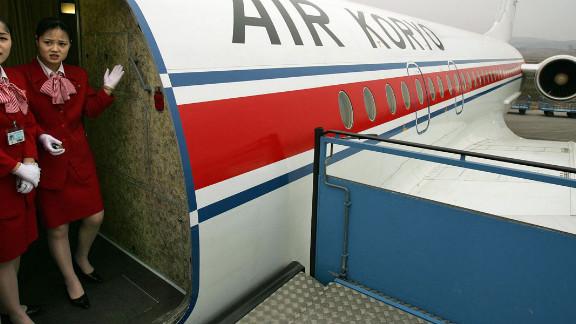 Air Koryo flight attendants seen in 2012.