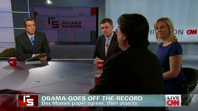 Obama goes off the record
