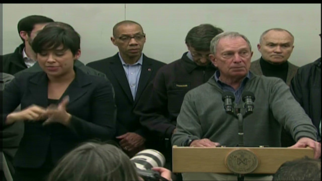 Bloomberg announces NYC evacuations during Sandy