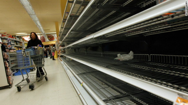 In Georgia, empty shelves and state of emergency