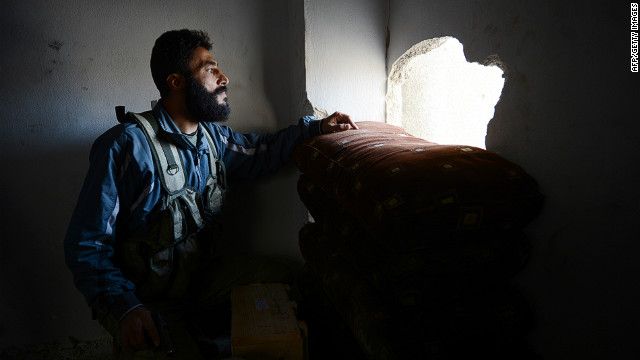 Syrian rebels and a Kurdish militia appear to be negotiating a cease-fire after clashes in  Aleppo on Saturday