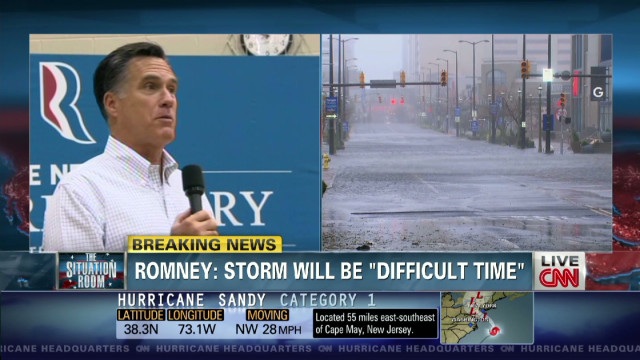 Romney: Storm will be a 'difficult time'
