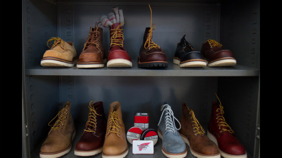 Iconic American bootmaker Red Wing offered boots from its American-made Heritage line, which started in response to demand from Japanese markets. Interest from customers in the United States has grown in the past five to seven years, spokesman Michael Williams said.