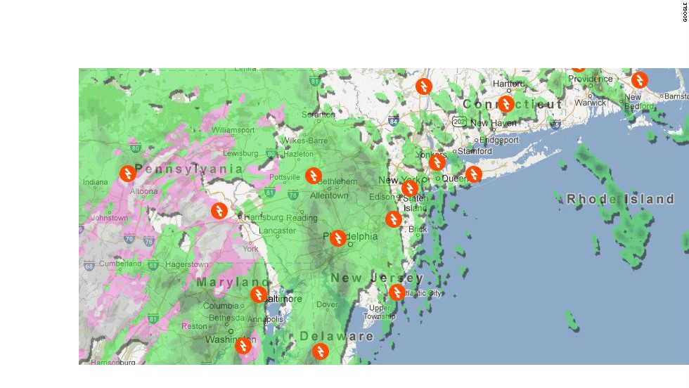 Google maps Sandy flooding, power outages - CNN