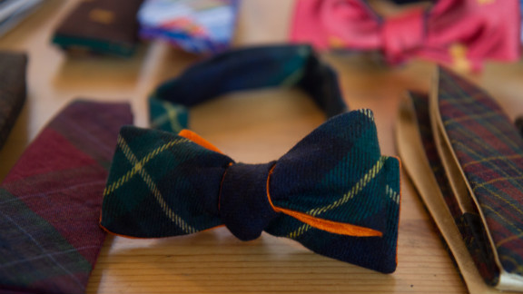 All of Pierrepont Hicks' colorful ties and bowties are made in New York. The husband-wife team behind Pierrepont Hicks started NorthernGRADE in 2010 with iconic leather accessory brand J.W. Hulme.