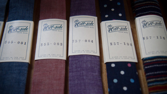 Penelope's offers ties by the Hill-side, an accessories brand whose line is made in Connecticut and Brooklyn.