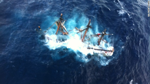 Raw video: Rescue from sunken HMS Bounty