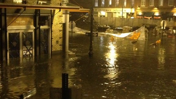 Superstorm Sandy dumped a lot of rain, flooding a part of Greenpoint, Brooklyn