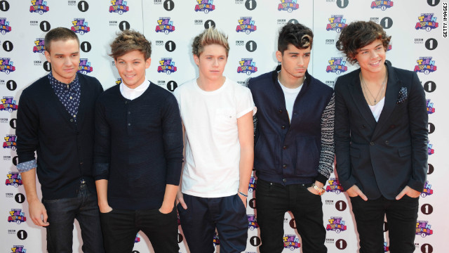 Liam Payne, Louis Tomlinson, Niall Horan, Zayn Malik and Harry Styles of 'One Direction'.