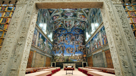 """In Vatican City, the Sistine Chapel is known for housing the papal conclave, in which the College of Cardinals gathers <a href=""""http://www.cnn.com/SPECIALS/world/pope/index.html"""">to elect the next pope</a>. Its ceiling is one of the most recognized pieces of art in the world."""