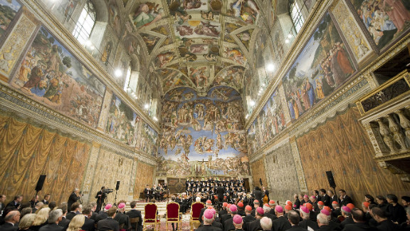 """The chapel features another famous painting by Michelangelo, """"The Last Judgment,"""" seen on the far wall above the altar. It was completed in 1541."""