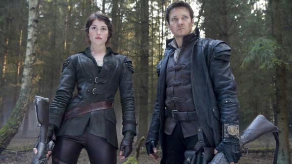 "Gemma Arterton stars as Gretel and Jeremy Renner stars as Hansel in ""Hansel and Gretel: Witch Hunters."""