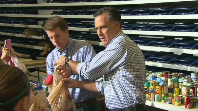 Romney's new focus: Storm relief