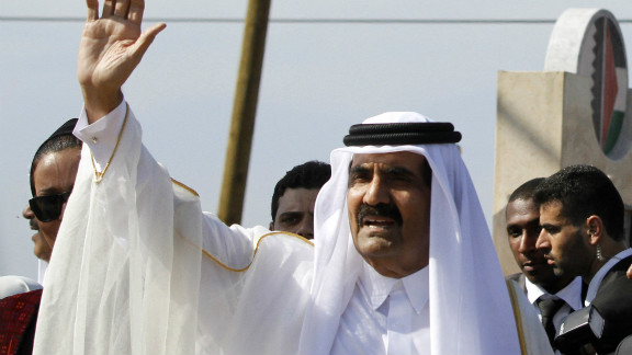 Sheikh Hamad bin Khalifa al-Thani, emir of Qatar, was the object of criticism in a poem that led to its author