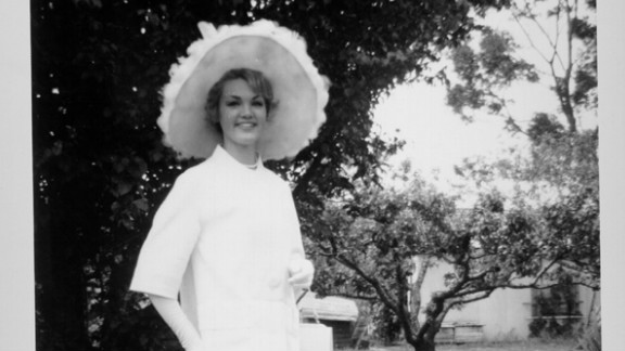 "Margaret Woods was the winner of the first Melbourne Cup Carnival ""Fashions on the Field"" competition in 1962. The top prize was a Ford Falcon Futura car."