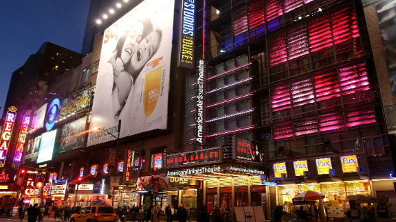 A view of American Airlines Theatre on Broadway in New York City in 2009.