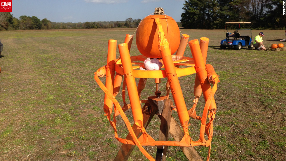 "It may not look a little odd, but to get the real impact of this flying-exploding-pumpkin you need to <a href=""http://ireport.cnn.com/docs/DOC-868771"" target=""_blank"">check out Matt Roach's amazing video</a>. The display was the brain-child of Cracker Jacks, one of the oldest fireworks clubs in the U.S., and according to Roach this pumpkin shot up to 150-175 feet before meeting a very timely and seasonal death."
