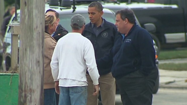 Obama tours damage in New Jersey